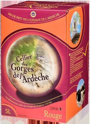 IGP Ardèche Rouge   « Cellier des Gorges de L'Ardèche »