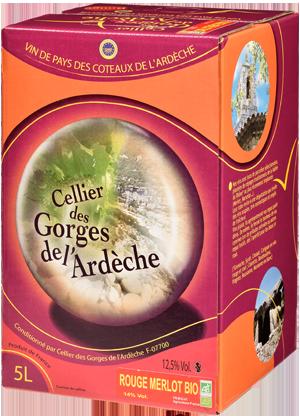 IGP Ardèche Merlot BIO « Cellier des Gorges de L'Ardèche »